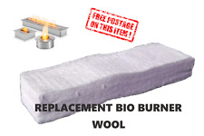 REPLACEMENT WOOL  FOR  BIO ETHANOL BURNER fire place   BIO BURNER SPONGE