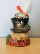 Yankee Candle Snowman Head Tart Burner Warmer New in Package Retired 2012