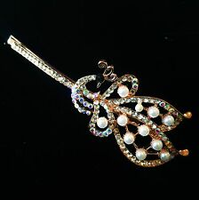 USA Quality Bobby Pin Hair Clip Hairpin Rhinestone Crystal Peacock Pearl Gold
