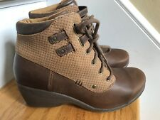Rocky 4 Eur Sole Boots Size 8/8.5M Brown Leather Excellent Condition