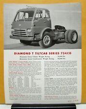 1962 Diamond T Truck 734CG Series Specification Sheet
