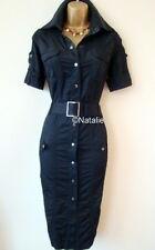KAREN MILLEN Stunning Black Military Shirt Dress K.M. Size UK 8 EU 34