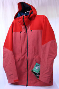 New Burton 2L Gore-Tex Murdoc Shell Snowboard Jacket Men's Large Burner