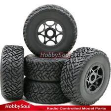 5pcs RC 1/8 Buggy Off Road Short Course Tires & Hex 17mm Wheels Rims For 1:8 Car
