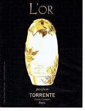 PUBLICITE ADVERTISING 027  2012  parfum haute couture l'Or de Torrente