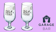 2 x Old Mout Cider Glasses Pint New Condition