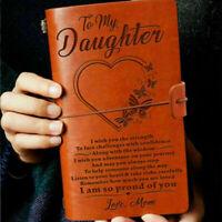 A6 Leder Notizbuch Lederbuch Tagebuch Skizzenbuch To Daughter My K9X3 C4C2