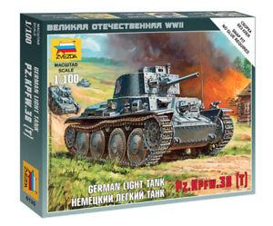 Zvezda 1/100 German Light Tank Panzer 38 (T) Z6130