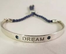 Brighton Silver Dream Bracelet With Woven Blue Band