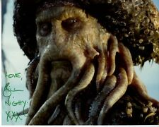 BILL NIGHY Signed Autographed PIRATES OF THE CARIBBEAN DAVY JONES Photo