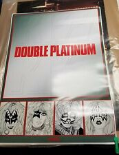 KISS CUSTOM DESIGNED EUROPEAN DOUBLE PLATINUM PROMO POSTER 23.5 X 32