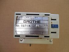 Grothe Power Supply 1971K 12 Volt 220 Volt 1A 1 A Amp Used