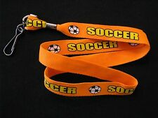 Lanyard Key Holder Sport Soccer Orange Strap