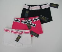 NWT Ralph Lauren Polo Girls' Navy Pink Belted Cotton Chino Shorts 4 5 6 6x NEW
