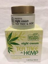 Tea Tree & Hemp Natural Therapy Night Cream With Dead Sea Minerals