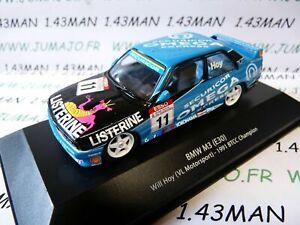 BTCC2  voiture 1/43 IXO atlas BTCC : BMW M3 E30 #11 1991 Will Hoy