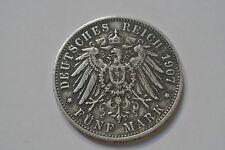 WUERTTEMBERG 5 MARK 1907