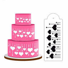 Hanging Heart  Cake Stencil Fondant Designer Decor Craft Cookie Baking Tool^-^