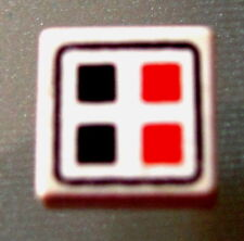 Lego 3070bp06 @@ Tile 1 x 1 Red Black Buttons Pattern @@ 6862 6932 6989 6990