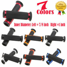 "7/8"" Universal Motorcycle Sports Bike Bicycle Rubber Handle Bar Black Hand Grips"