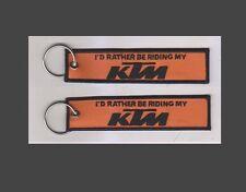 Ktm porte-clés je préférerais être équitation mon ktm porte-clés key tag uk gratuit post (D2)