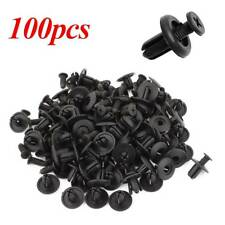 100Pcs Car Plastic Rivets 6mm Hole Dia Fastener Fender Bumper Push Pin Clips W