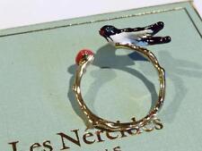 PRETTY ENAMELLED BIRD RING by LES NEREIDES - FREE UK P&P.......CG0124