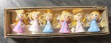 Six Vintage Christmas Miniature Angel Paper Mache Ornaments Japan for Charity