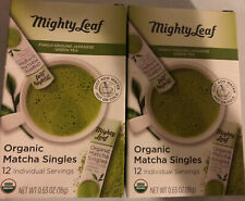 Mighty Leaf Finely Ground Japanese Green Tea Organic Matcha Singles 24 Packets