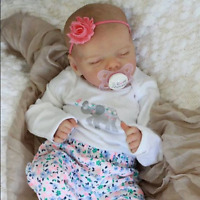 17'' Real Lifelike Journey Reborn Baby Doll Girl Toy Cloth Body / Vinyl Body