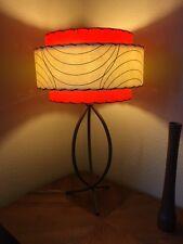 Mid Century Vintage Style 3 Tier Fiberglass Lamp Shade Atomic  Orange