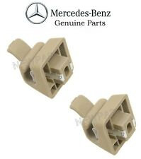 Mercedes w123 w124 w126 Sun Visor Clip set (x2) CREAM Genuine retainer
