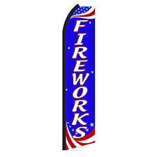 Fireworks Advertising Sign Swooper Feather Flutter Banner Flag Only