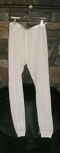 100% SILK Long Underwear Lightweight Silk BOTTOMS Under Silk EUC Size XL