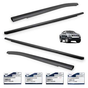Fits Ford  Ranger T6 MC 2012 2018 Black Genuine Window Sill Line Rubber 4 Door