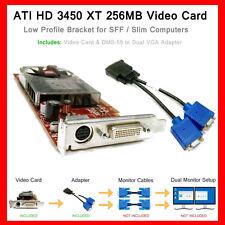 Dell OptiPlex SLIM SFF 755 760 780 360 380 Dual VGA Monitor Video Card PCI-e x16