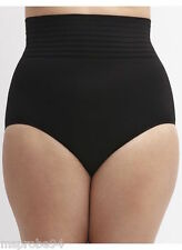 CACIQUE LANE BRYANT HIGH HI WAIST SEAMLESS FULL BRIEF PANTY size 26-28 Black