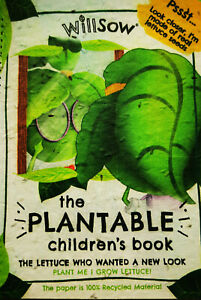 Willsow Plantable Book - The Lettuce Who Wanted A New Look - with lettuce seeds