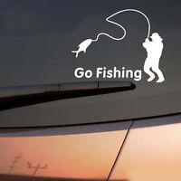 Go Fishing Vinyl Car Graphics Window Reflective Vehicle Sticker Decal Decor SALE