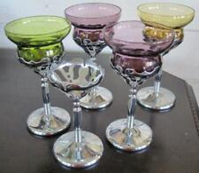 Four Art Deco Farber Brothers Krome Kraft Coctail Glasses
