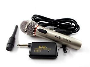 Micro sans Fil et avec Câble Fil 2 IN 1 pour Record Karaoke Chant At 309