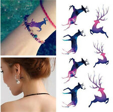 small Temporary Tattoo Waterproof Removable Deer color Stickers Body Art Tatoo