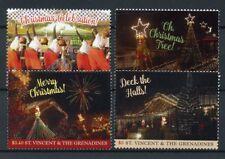 St Vincent & Grenadines 2017 MNH Merry Christmas Decorations 4v Set Stamps