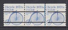 US Sc 1901a MNH. 1982 5.9c Bicycle Bureau Precancel, Plate 6 strip of 3, VF