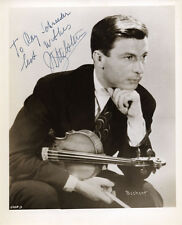 Nathan MILSTEIN (Violinist): Signed Photograph with Violin