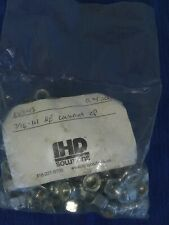 716 14 Thread Nylon Insert Lock Nut Zinc Plated Qty 100