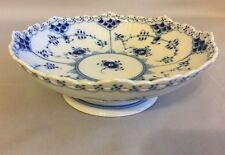 Royal Copenhagen Blue Fluted Full Lace Compote Candy Dish Denmark 1023