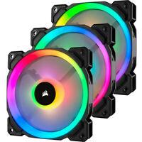 Corsair LL Series CO-9050072-WW LL120 RGB, 120mm Dual Light Loop RGB LED 3-Fans