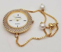 Watch Crystal Quartz Gold Plated Sterling AD Gift Lady Fashion Jewelry Beautiful