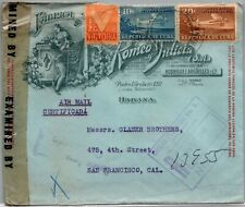 GP GOLDPATH: CARIBBEAN COUNTRY COVER 1944 REGISTERED LETTER AIR MAIL _CV523_P20